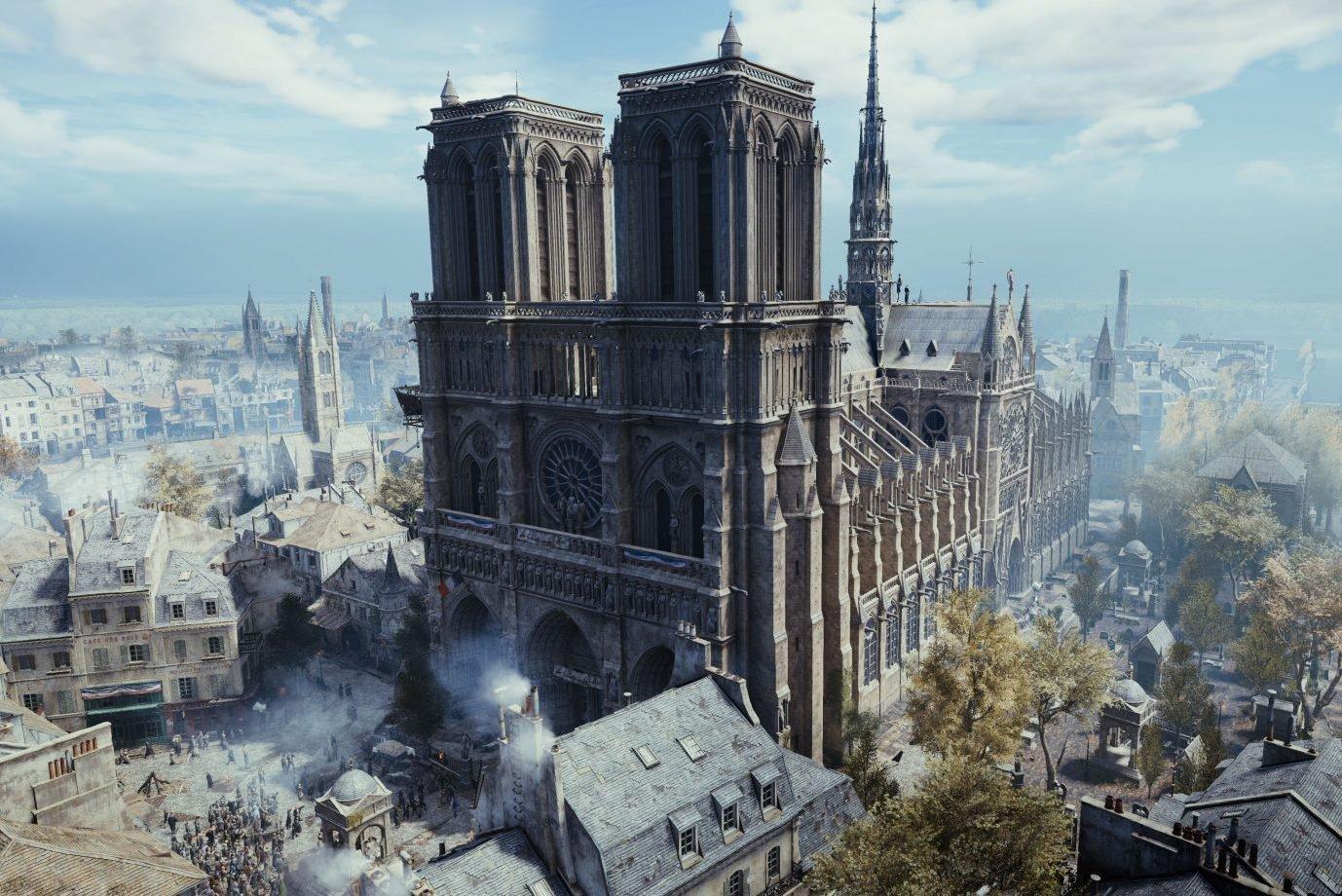 A Catedral de Notre-Dame no jogo Assassins's Creed: Unity
