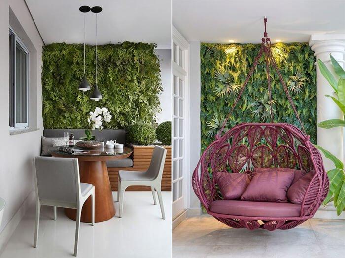Projetos de decoração da Revista Viva Decora, que utilizam jardins verticais