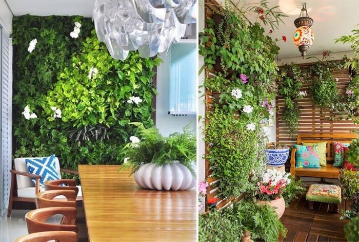 Projetos de decoração da Revista Viva Decora utilizam jardins verticais