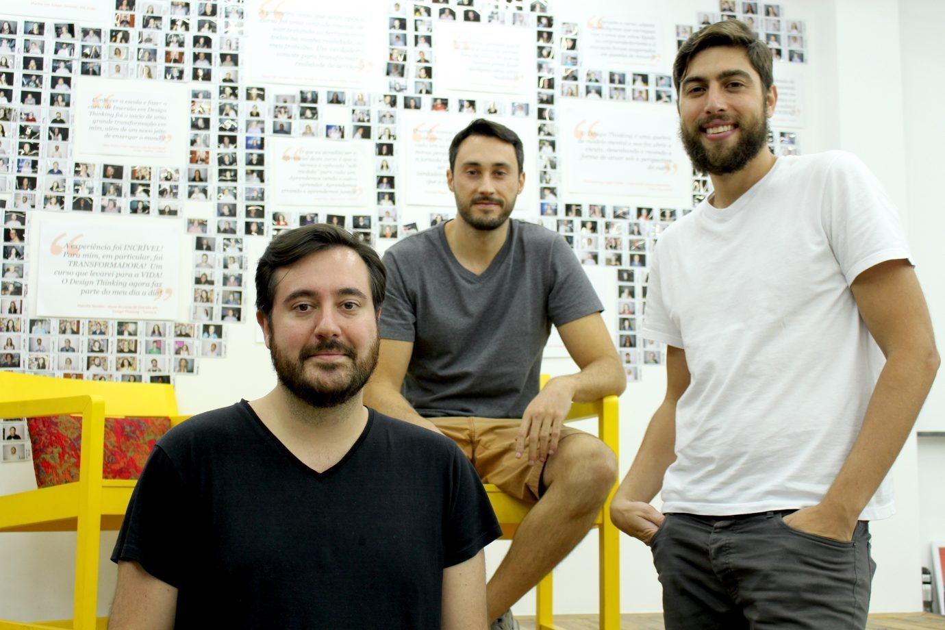 Daniel Pasqualucci, Gustavo Paiva e André Tanesi, da Descola