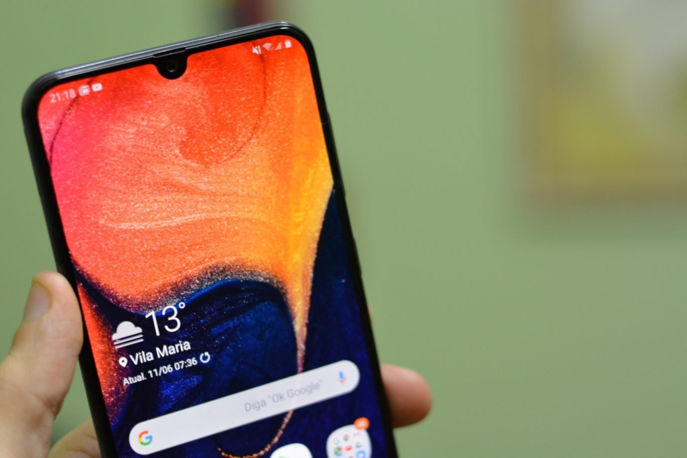 Smartphone Android Samsung Galaxy A50 Review Teste
