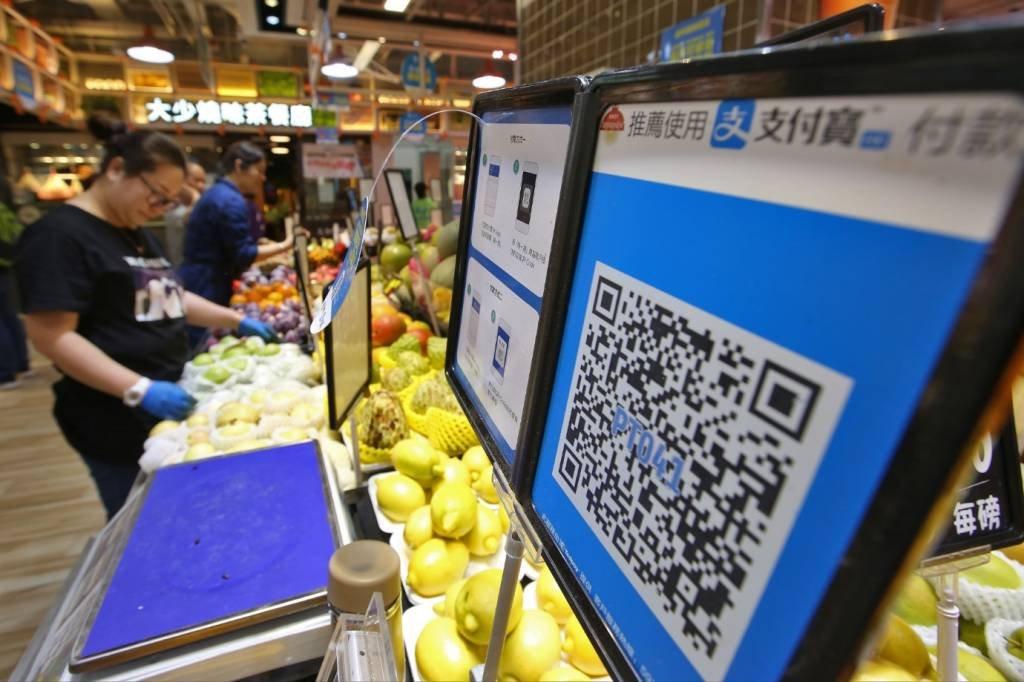 Pagamento por QR Code oferecido pelo Alipay, da Ant Financial, em Hong Kong