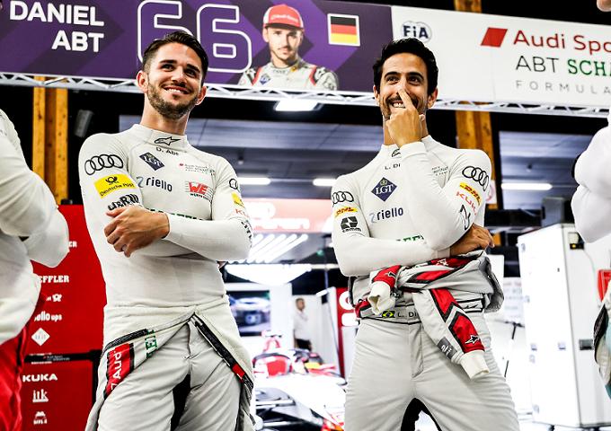 Daniel Abt e Lucas Di Grassi: pilotos da Fórmula E pela Audi Sport ABT Schaeffler