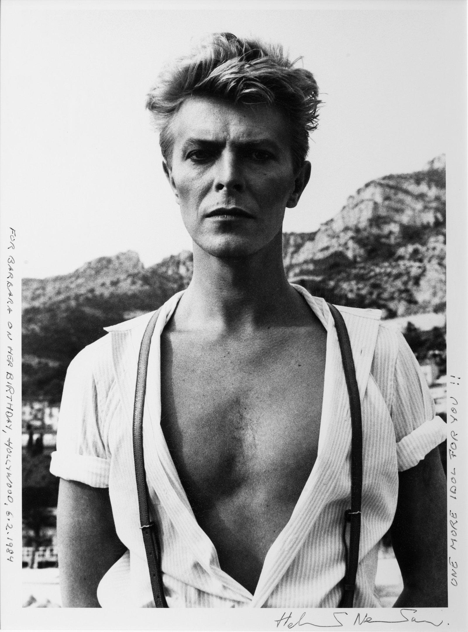 """""""David Bowie"""", 1984, foto de Helmut Newton"""