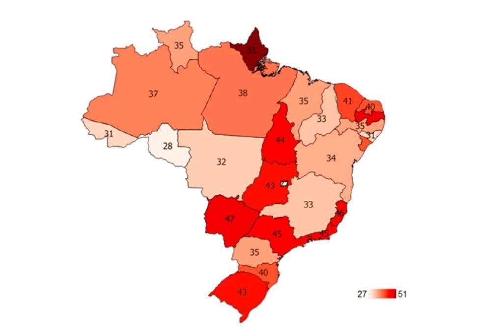 Mapa de calor das obras paralisadas