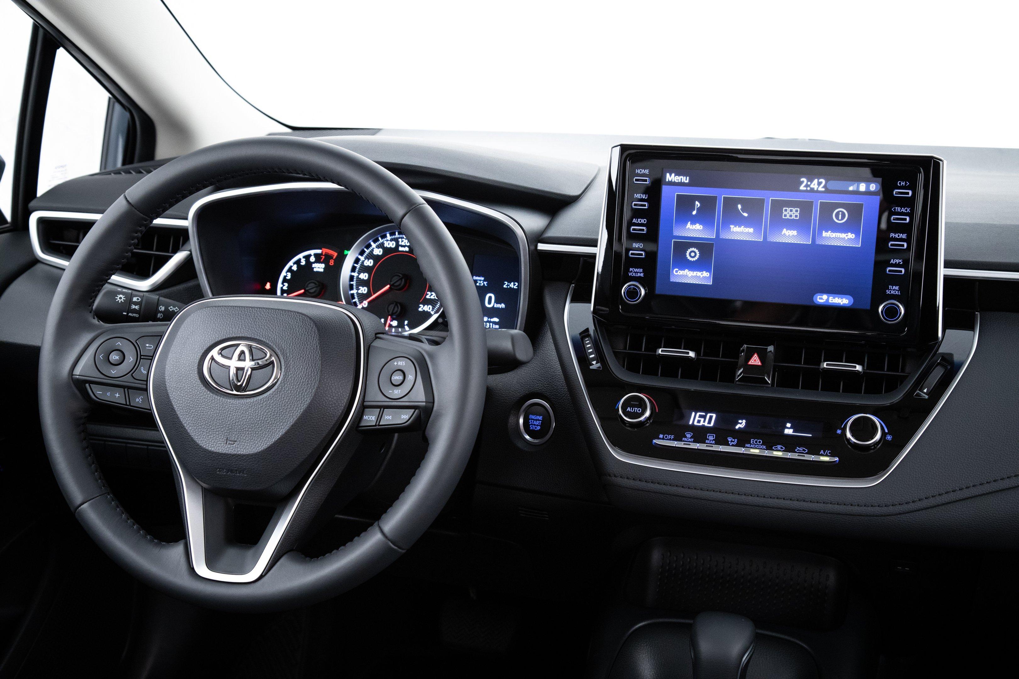 Interior do novo Toyota Corolla 2020