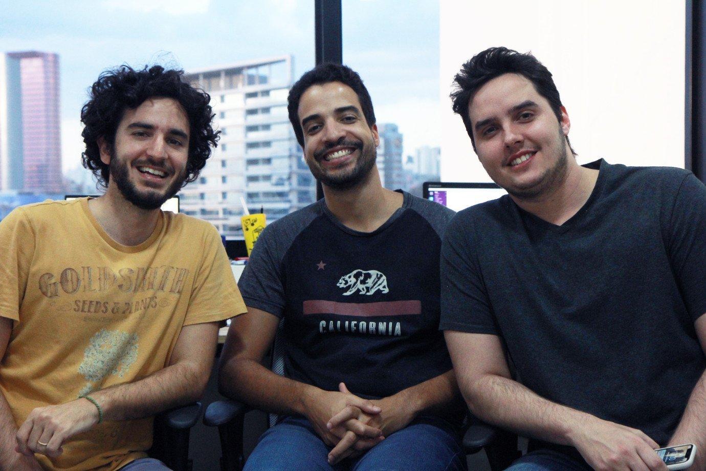 Gustavo Gracitelli (CEO), Leonardo Liborio (COO) e Abraão Lacerda (CTO), do Bynd
