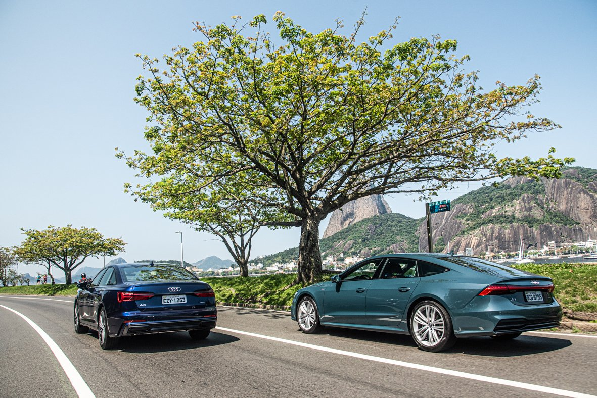 Audi: entre a formalidade do sedã e a descontração do cupê.
