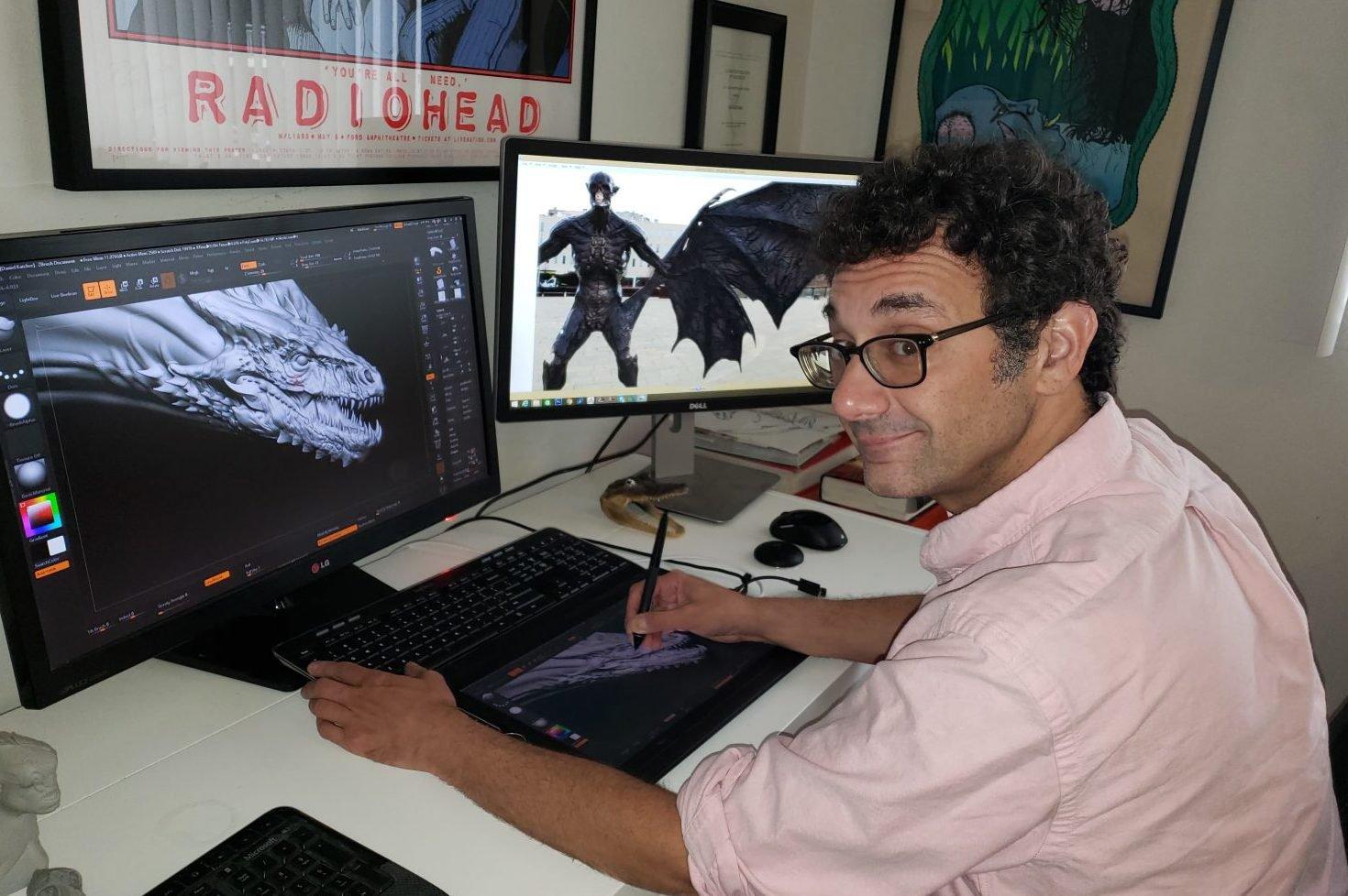 Artista Dan Katcher, o pai dos dragões de Game of Thrones