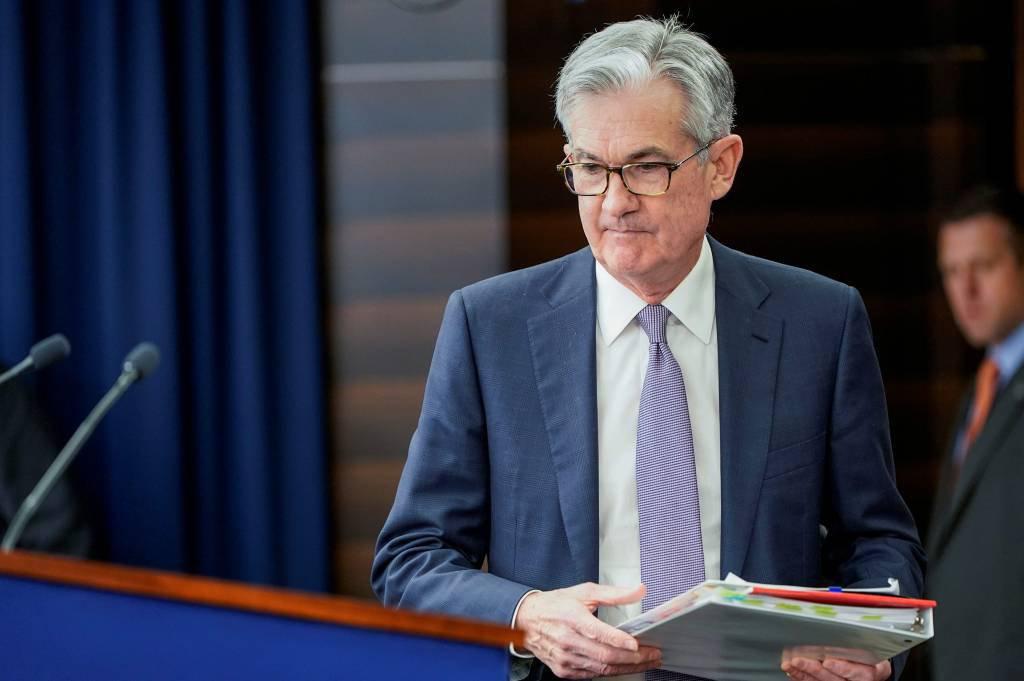 Jerome Powell, presidente do Fed chega para uma coletiva de imprensa após a reunião do Comitê em Washington. 11 de dezembro de 2019. REUTERS / Joshua Roberts