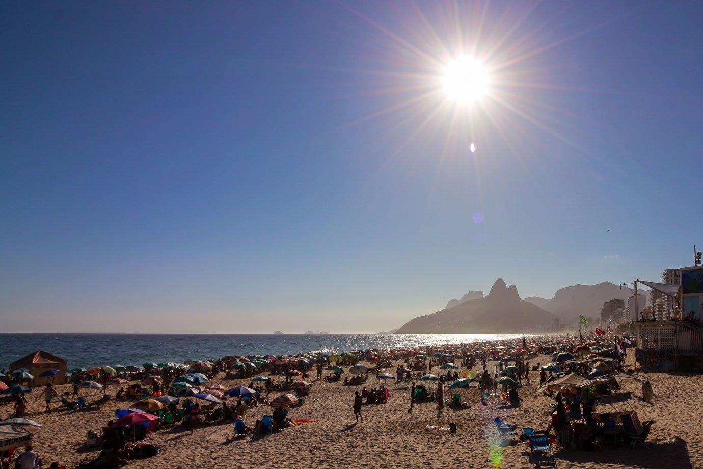Rio tem segunda-feira de calor e sensação térmica pode ficar acima de 40º |  Exame