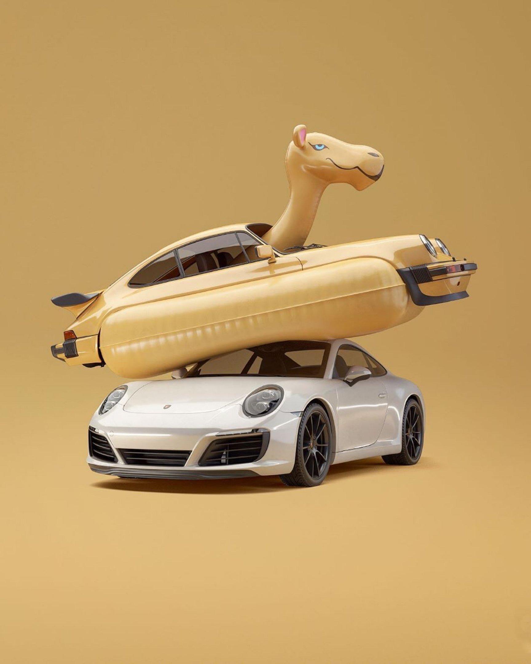 Trabalho de Chris Labrooy: arte com carros