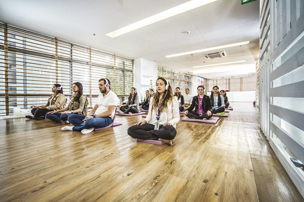 Espaço de meditação na empresa de telefonia Vivo: a maioria das empresas brasileiras não cuida da saúde mental dos funcionários / Divulgação