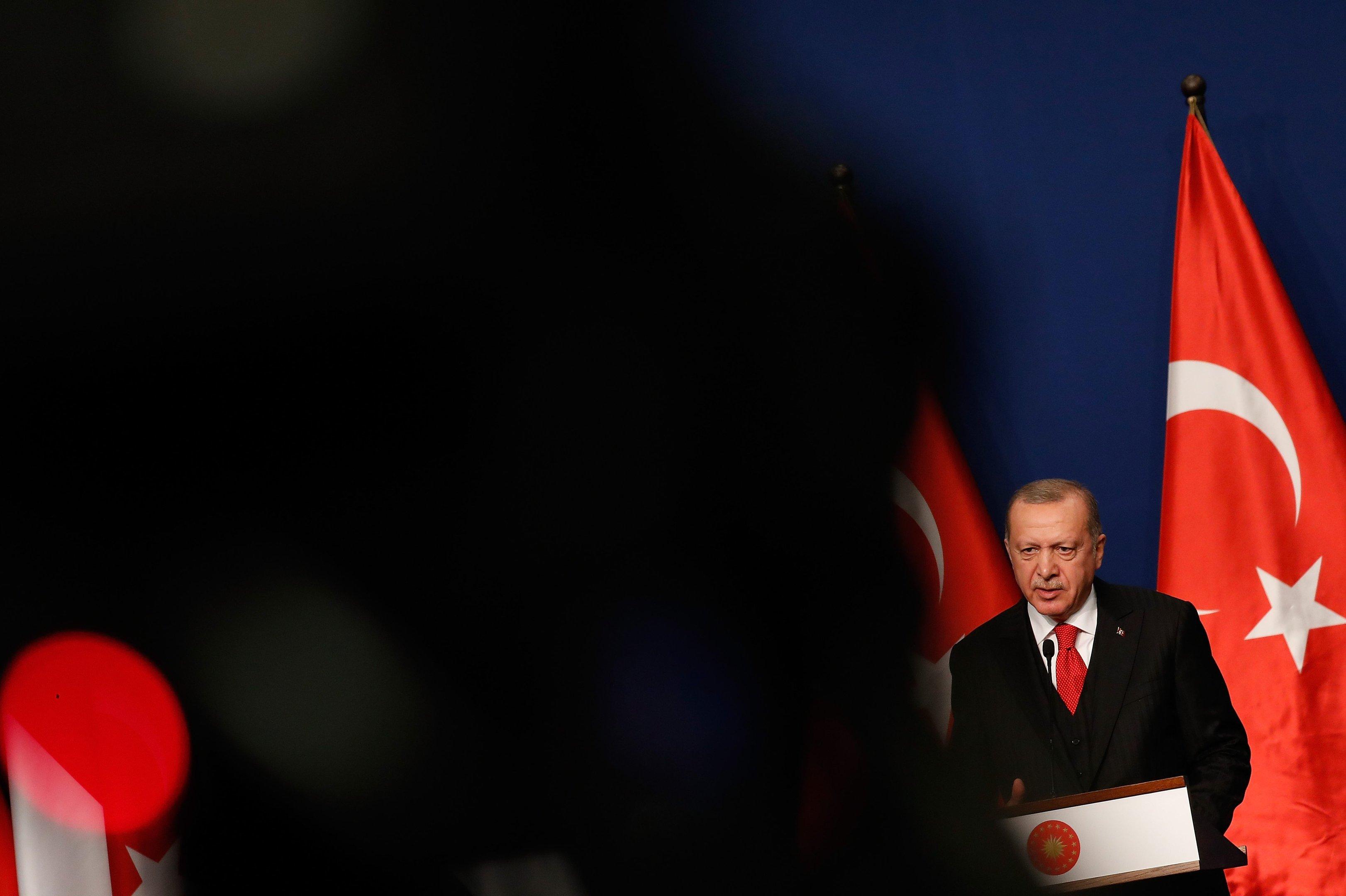 Presidente da Turquia, Tayyip Erdogan. Novembro de 2019. Foto: Laszlo Balogh/Getty Images
