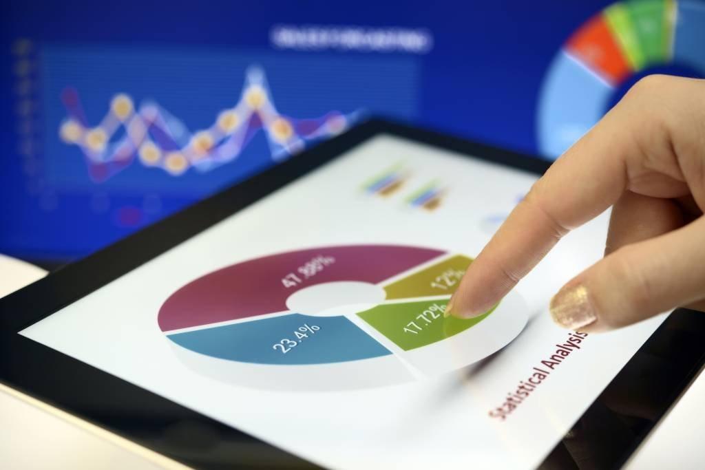 gráfico, investimentos, carteira ações, finanças pessoais, dinheiro, negócios