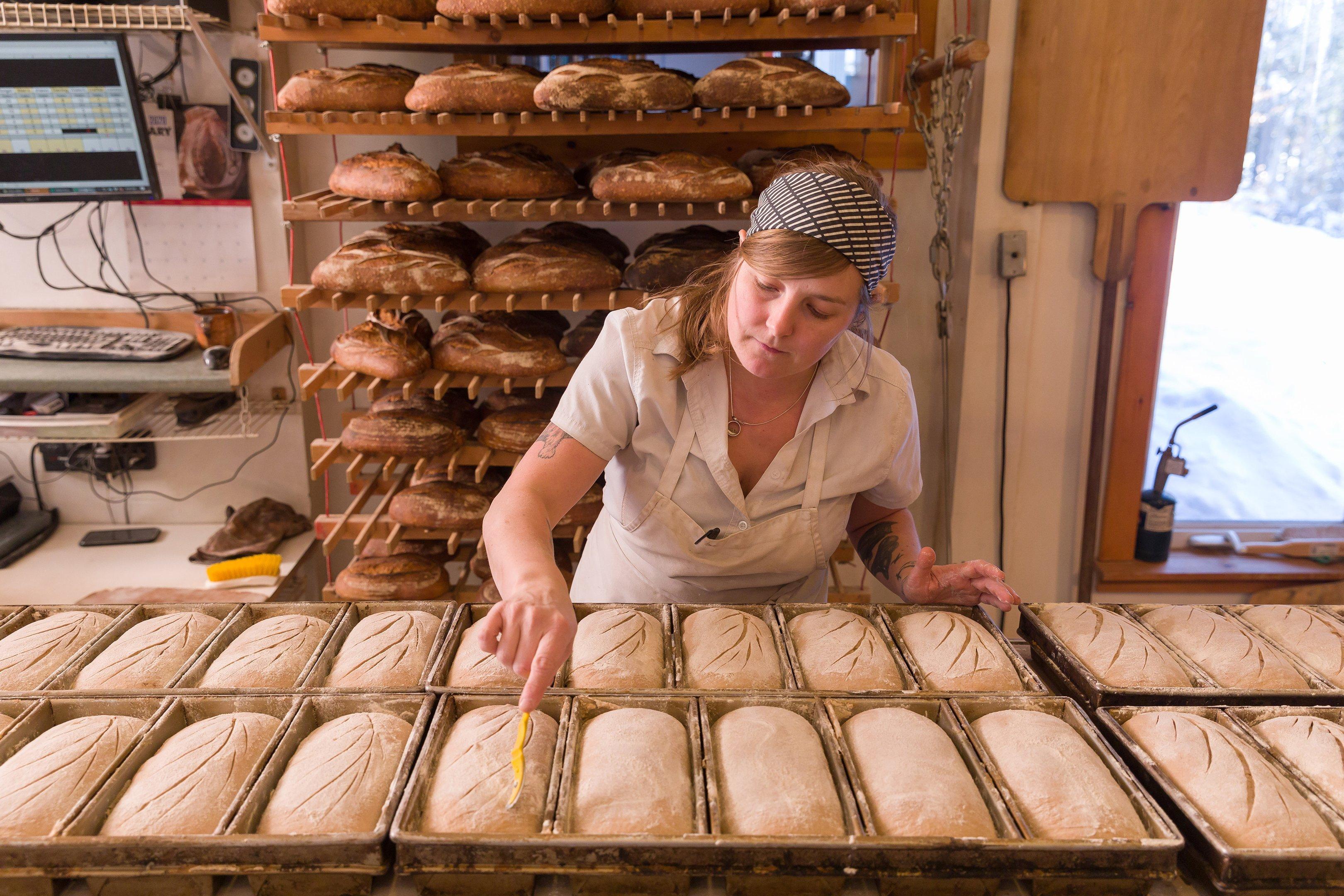 Blair Marvin, fabricante de pães em Elmore