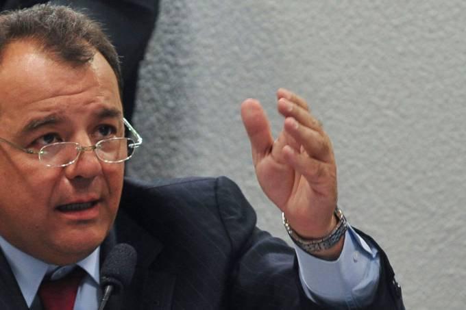 Sérgio Cabral: Preso preventivamente desde novembro de 2016, Cabral acumula penas somadas de 282 anos em treze condenações impostas pela Lava Jato (Antonio Cruz/Agência Brasil)
