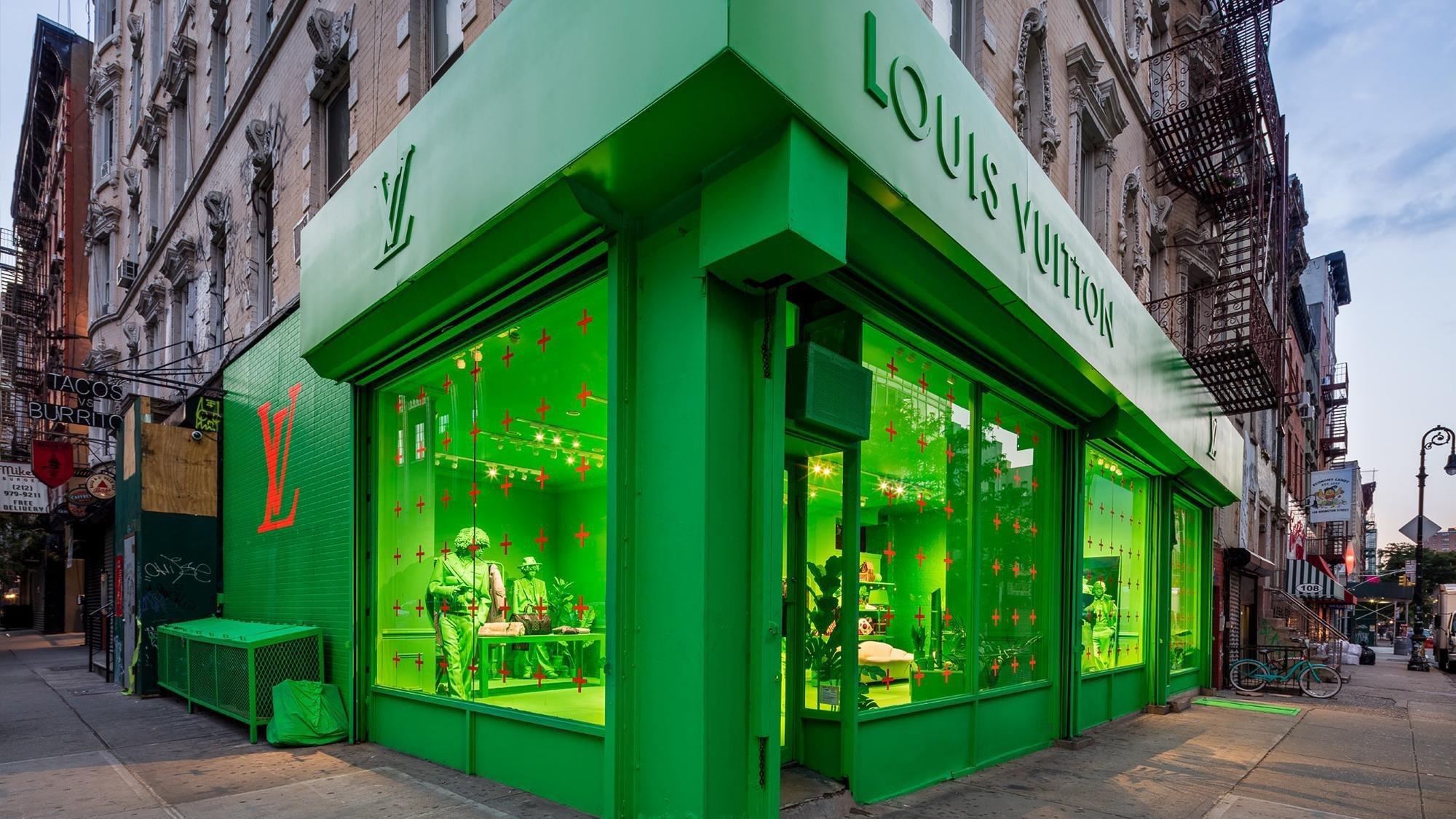 Loja pop-up da Louis Vuitton em Nova York