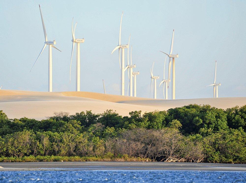 Complexo eólico no Ceará: