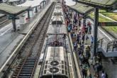 Estação de trem do Maracanã, no Rio de Janeiro em meio a pandemia de coronavírus