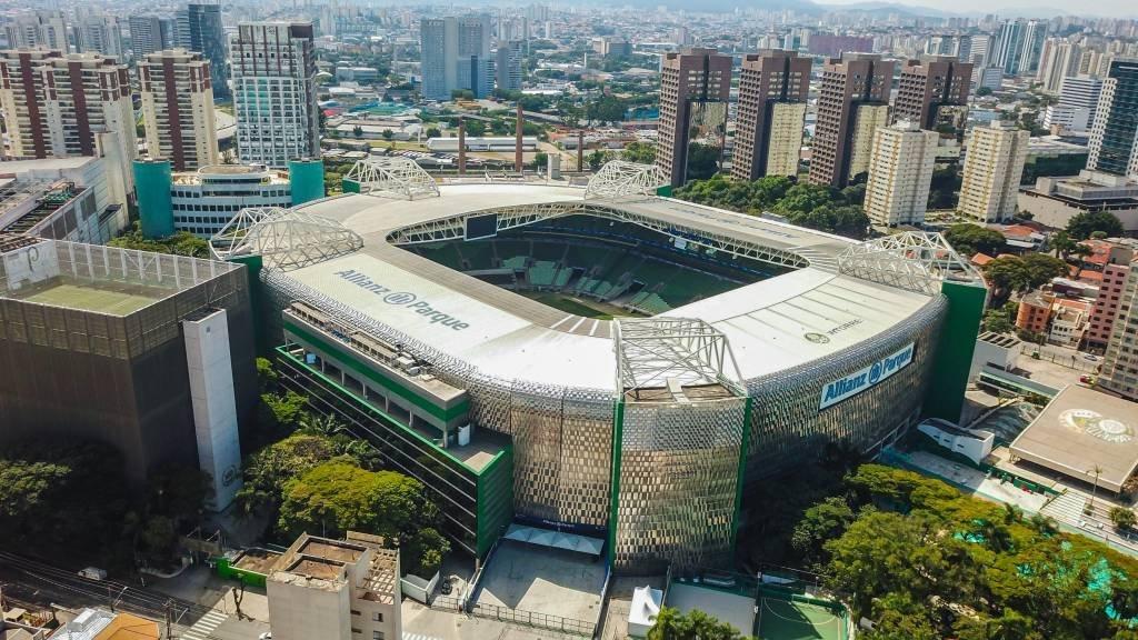 Estádio Allianz Park durante quarentena de coronavírus em São Paulo