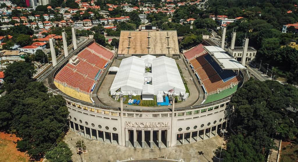 Estádio do Pacaembu durante quarentena de coronavírus de São Paulo