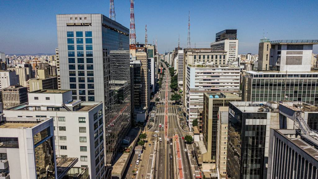 Avenida Paulista durante quarentena de coronavírus