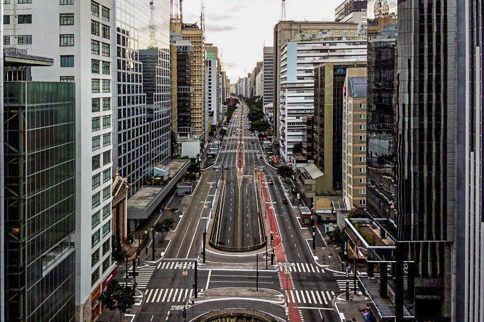 Avenida Paulista, São Paulo, Brasil: 4 de abril de 2020.
