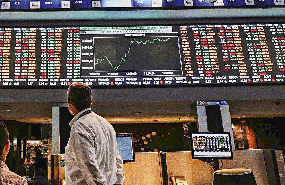 Bolsa de valores B3/Índice Ibovespa atinge 96 mil pontos