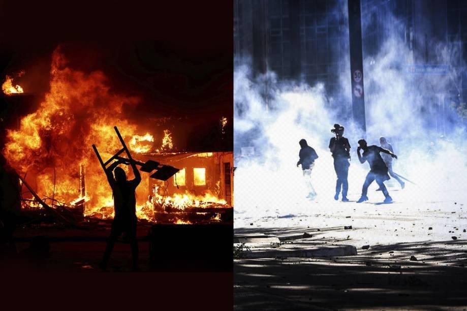 Protestos de 31 de maio: nos EUA, contra a morte de George Floyd e, no Brasil, contra Bolsonaro