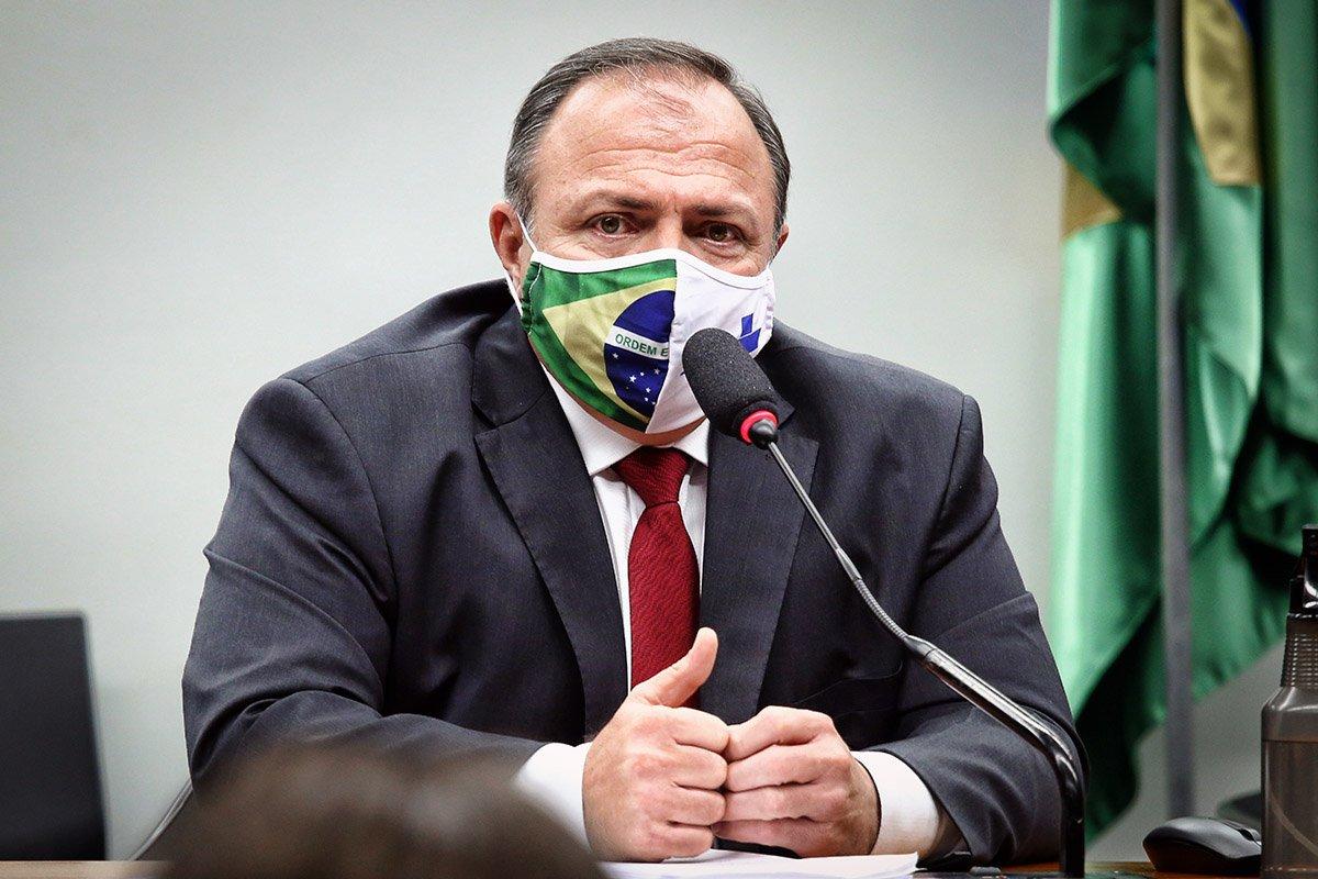 Ministro interino da Saúde, Eduardo Pazuello