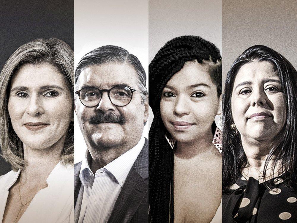 Vanessa Lobato, VP de RH do Santander, Andreia Dutra, presidente da Sodexo, Fernando Alves, presidente da PwC, e Sheila de Carvalho, coordenadora de práticas empresariais e políticas públicas do Instituto Ethos, falam sobre o valor da diferença