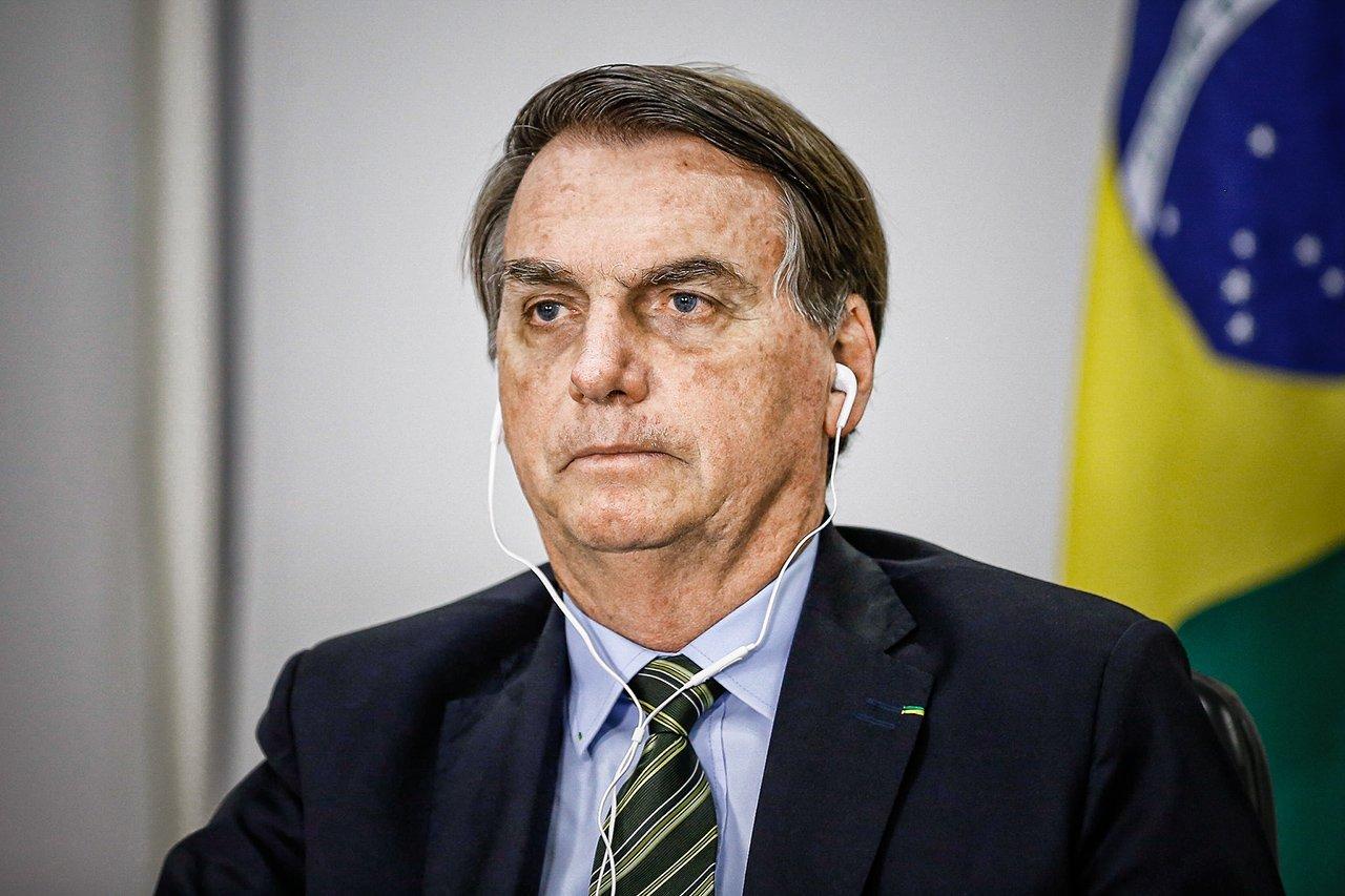 Presidente da República, Jair Bolsonaro durante Solenidade de Posse dos Ministros Luís Roberto Barroso e Luiz Edson Fachin nos cargos de Presidente e Vice-Presidente do Tribunal Superior Eleitoral (videoconferência)