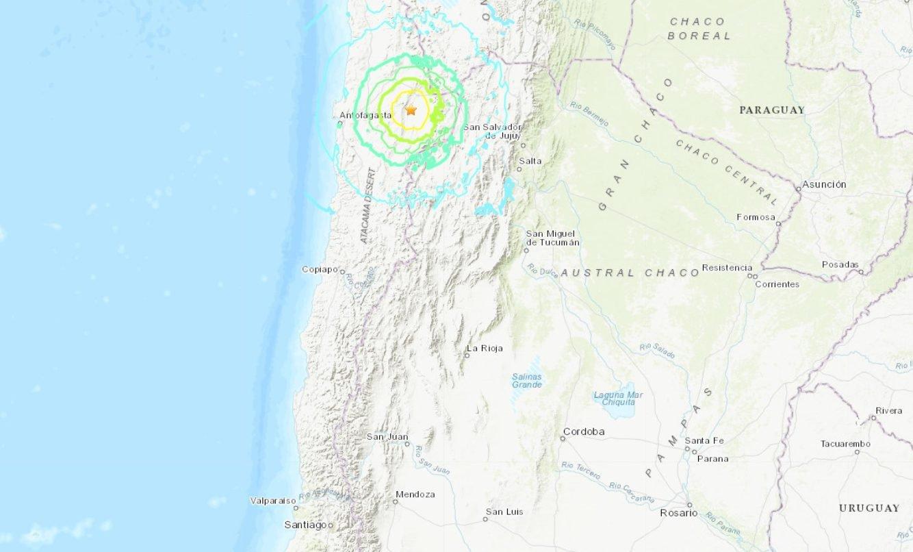 Forte terremoto de 6,8 graus atinge o Chile