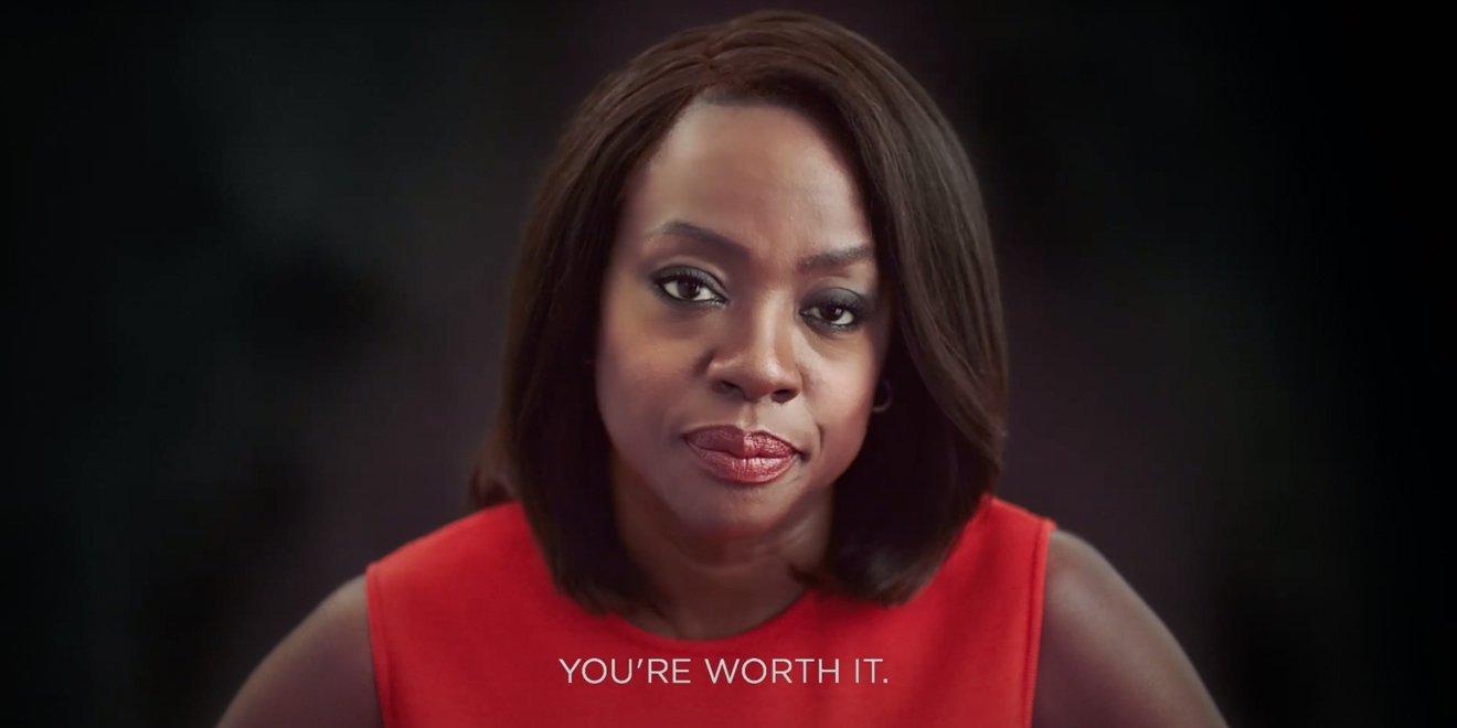 Viola Davis em campanha para L'Oréal