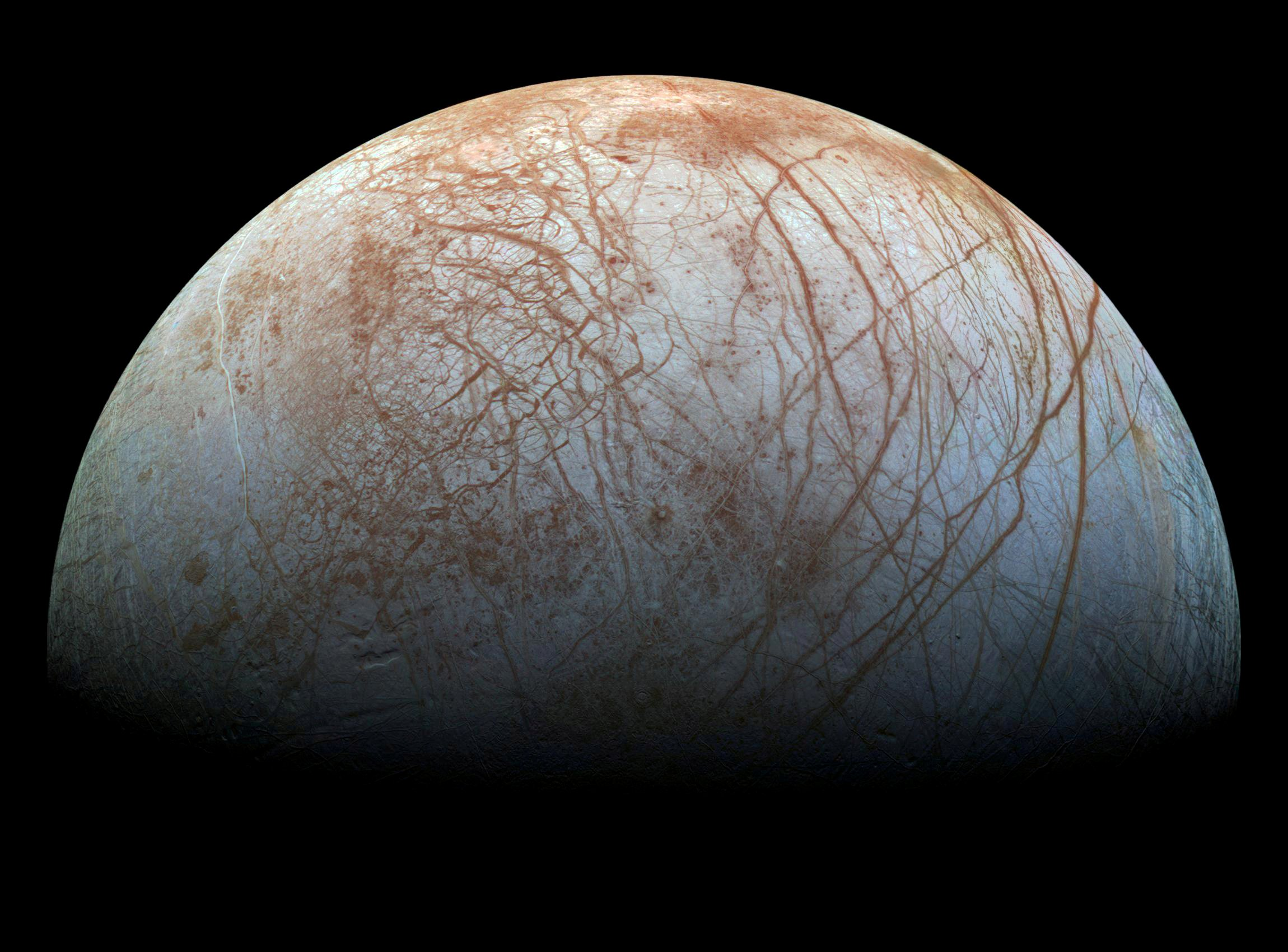 Vista da lua de Jupiter