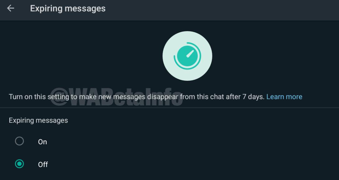 WhatsApp testa mensagens autodestrutivas