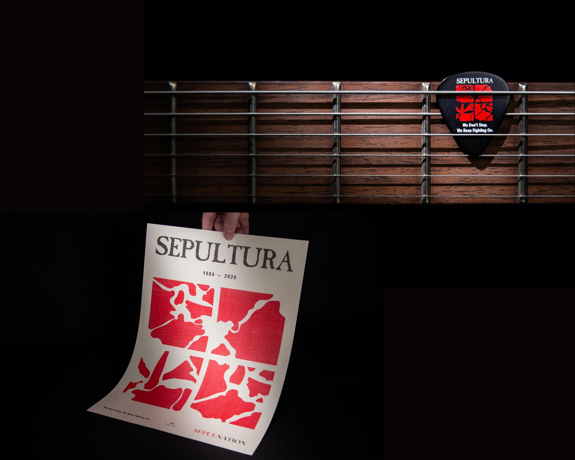 Café especial do Sepultura: o pôster e a palheta especiais para o projeto