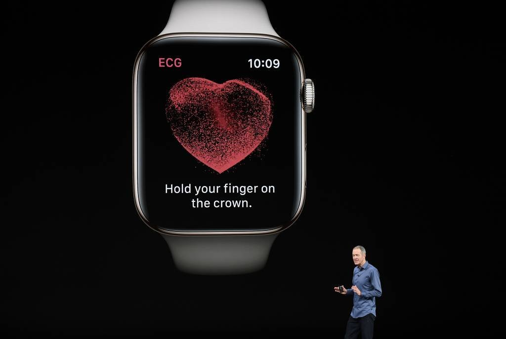 "Modo ""eletrocardiograma"" no Apple Watch"