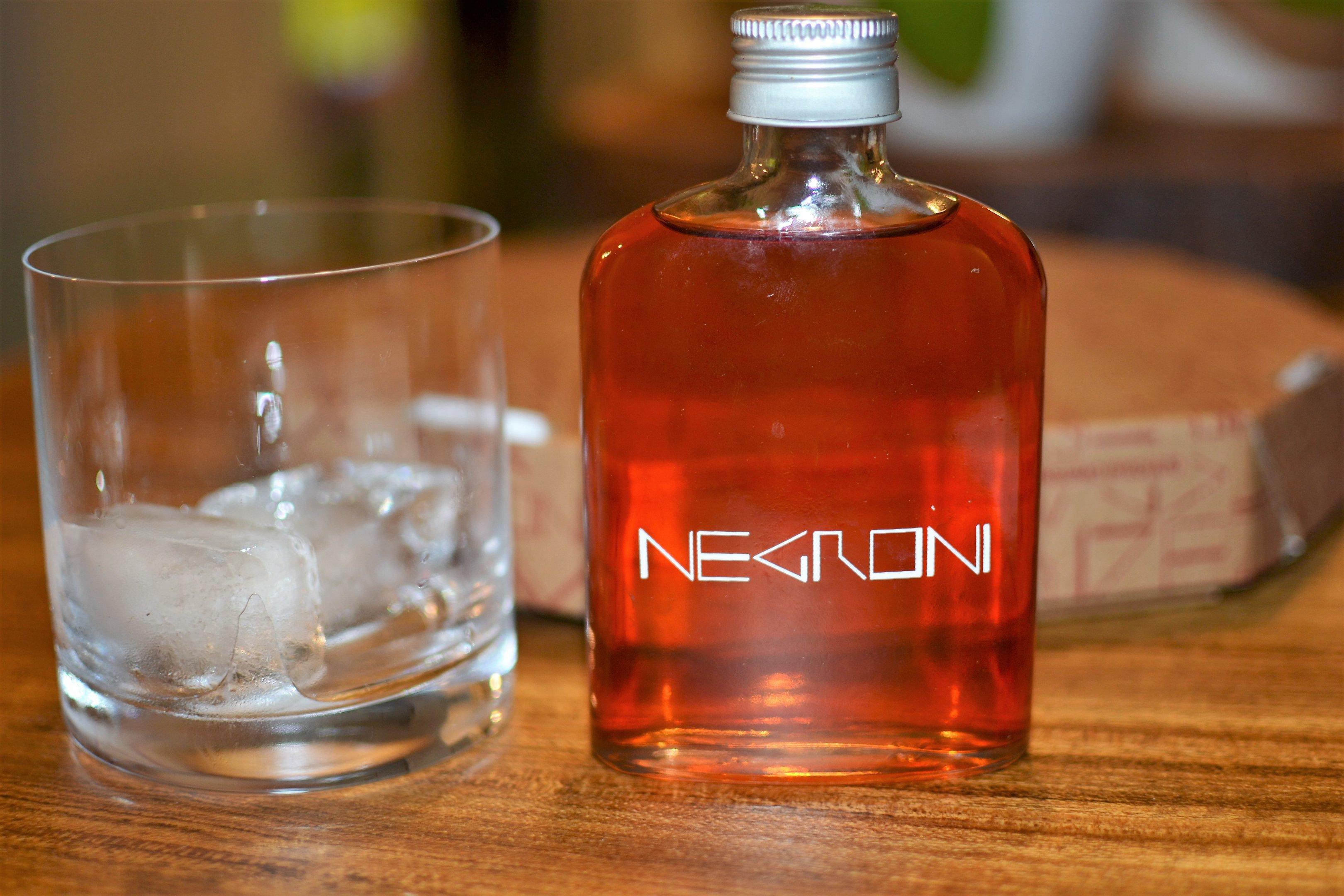 Drinque para entrega do Negroni