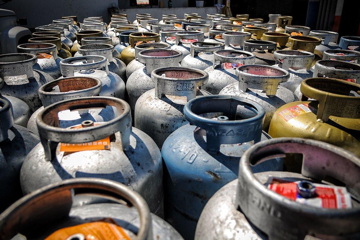 Botijões de gás de cozinha