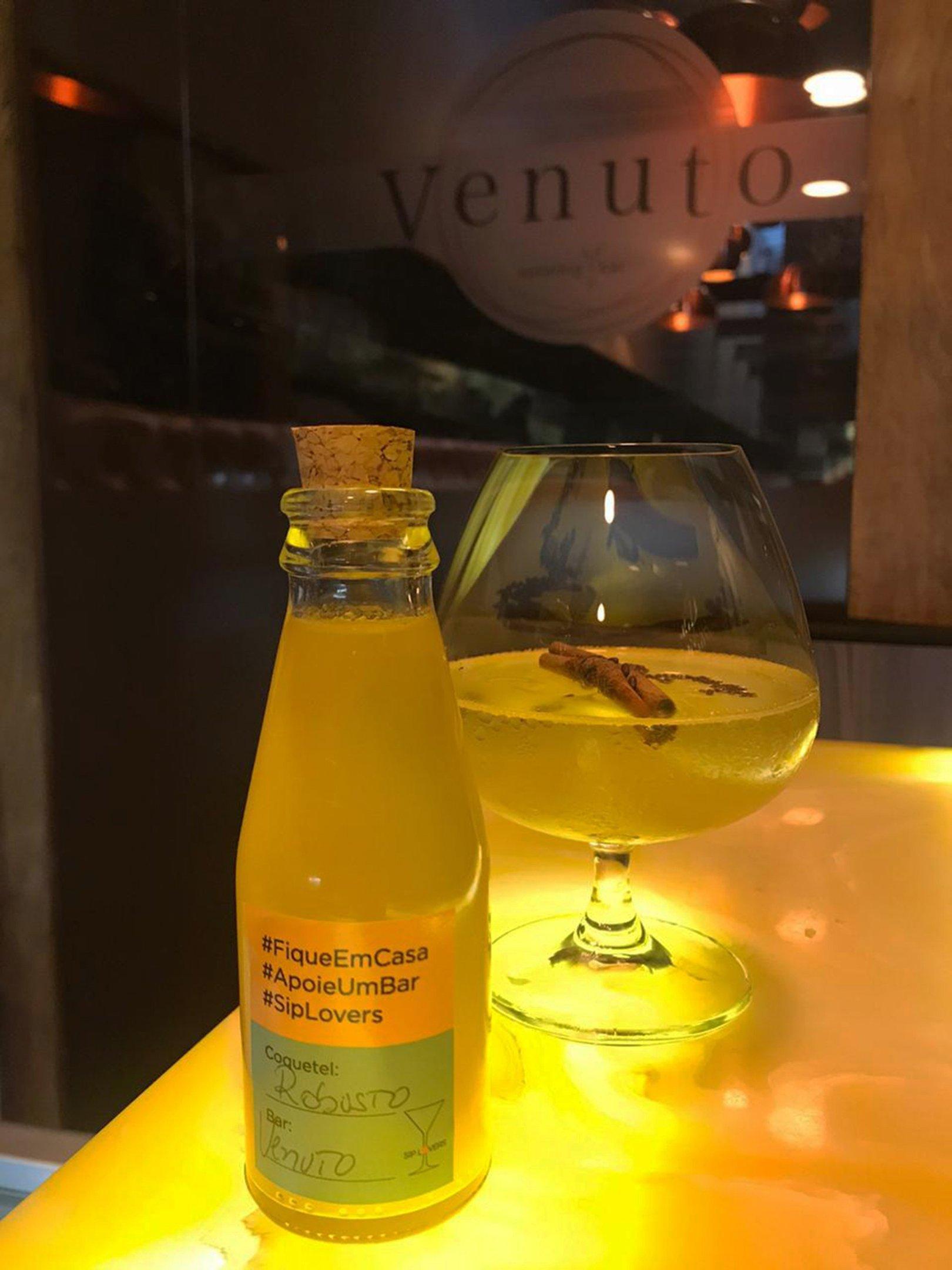 Drinque Robusto engarrafado, do Venuto