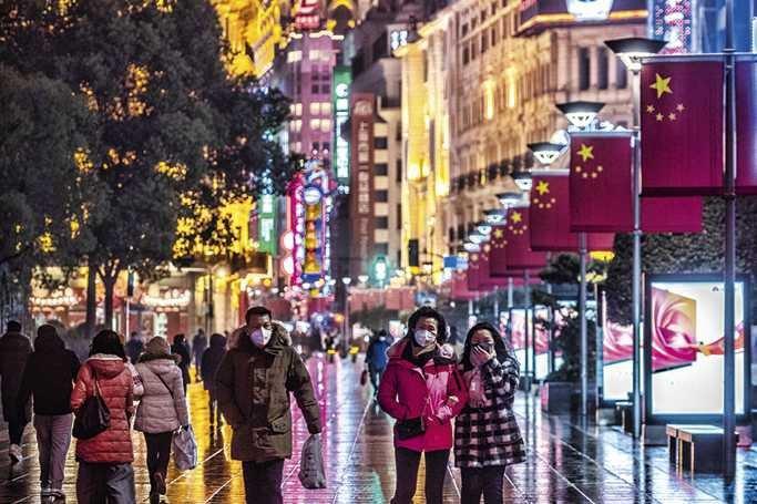 Rua em Xangai
