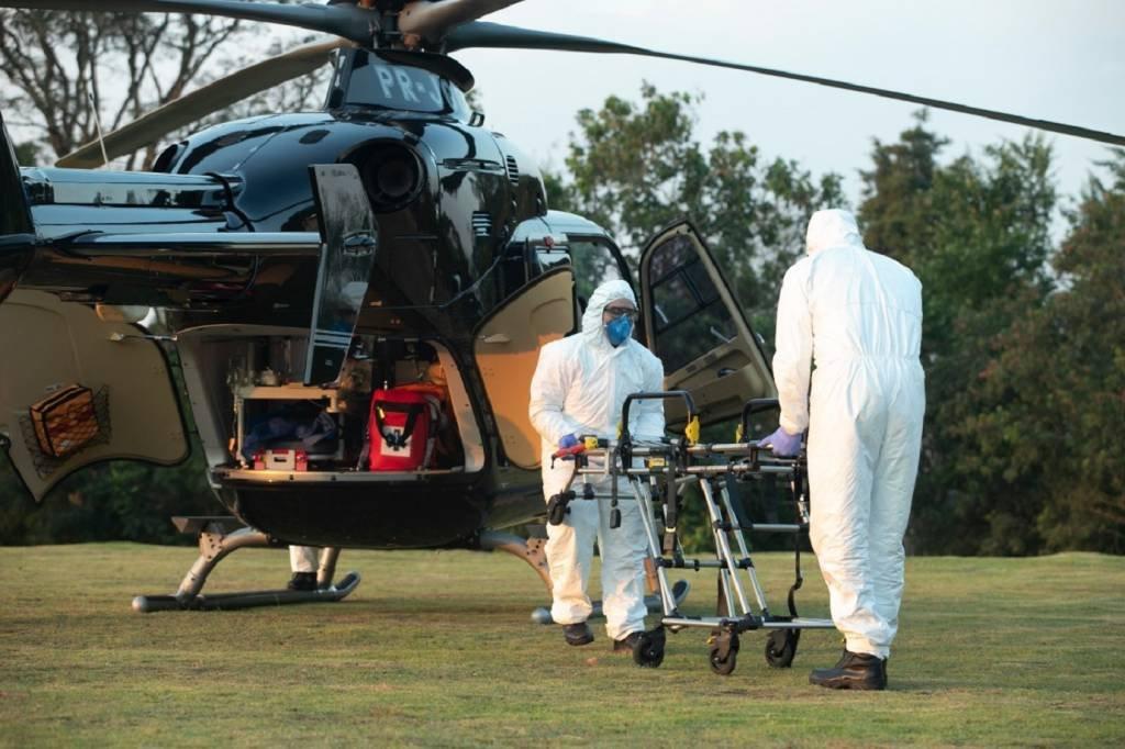 Helicóptero aeromédico da Air Jet, empresa de táxi aéreo dos donos da Prevent Senior