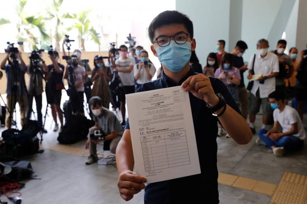 Joshua Wong, ativista de oposição em Hong Kong
