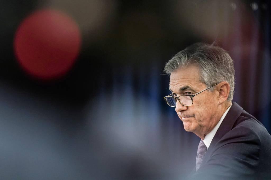 JEROME POWELL: além do presidente do Fed, outros seis membros do banco central norte-americano votaram pelo corte de 0,25 ponto percentual na taxa de juros / REUTERS/