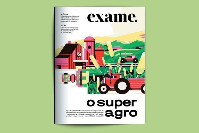 montagem em tamanho 3x2 da capa da edição 1.213 da revista EXAME