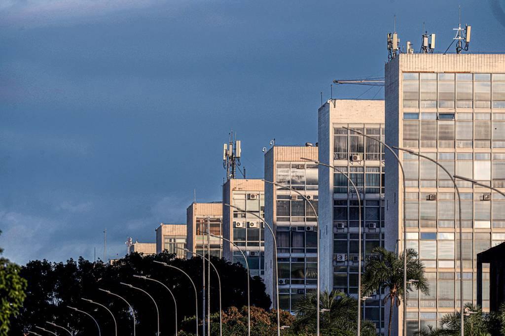 Esplanada do ministérios em Brasília