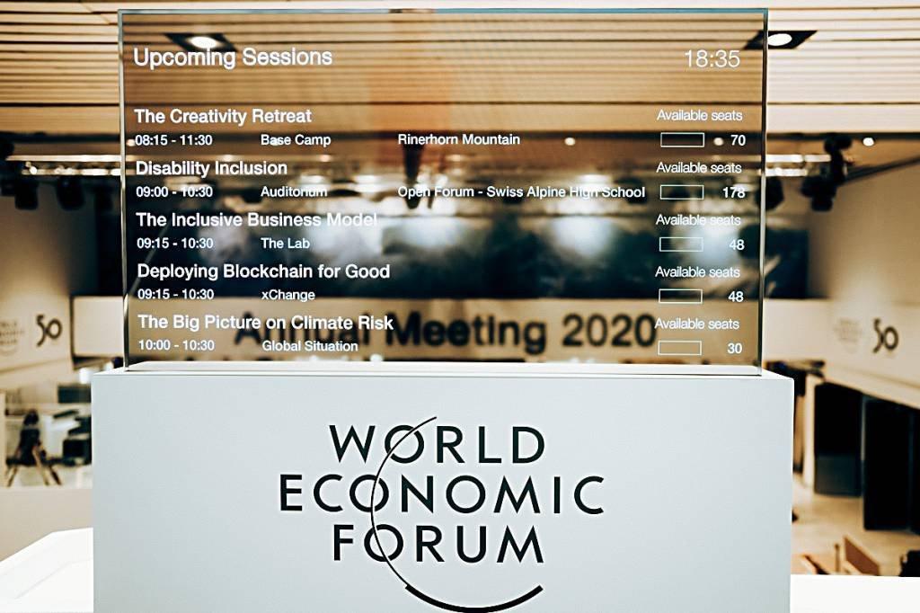 Impressões da Reunião Anual do Fórum Econômico Mundial de 2020 em Davos-Klosters, Suíça, 17 de janeiro. Copyright da World Economic Forum / Pascal Bitz