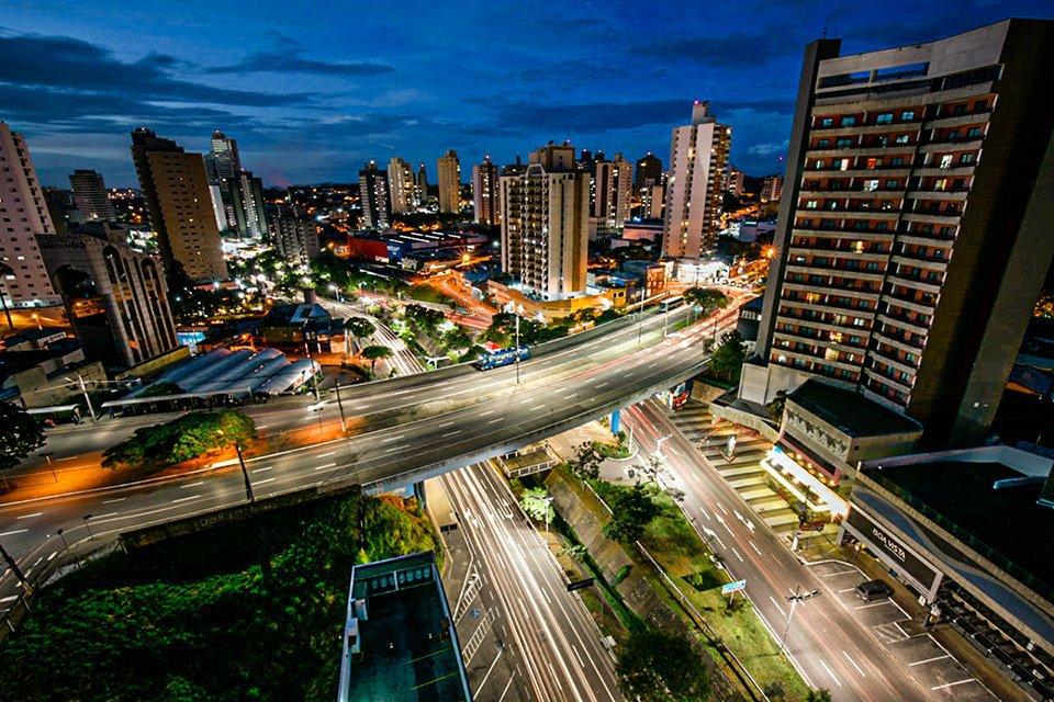 Jundiaí vista noturna da cidade